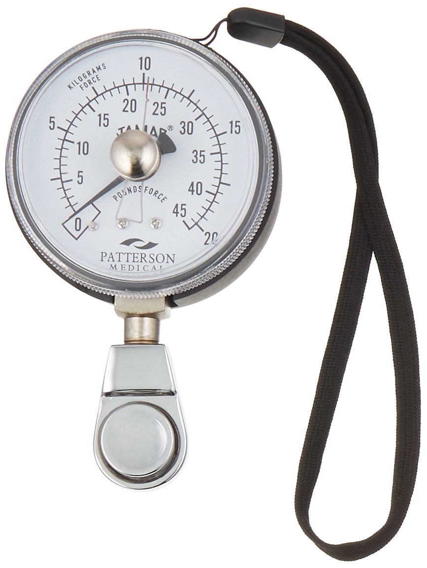 Jamar Hydraulic Pinch Gauge, Inexpensive Max Force Indicator to Measure Finger Strength and Grip Strength, Inexpensive Device Measures Pinch Force & PSI, Includes Instructions and Carrying Case