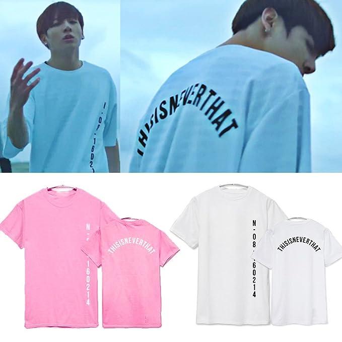 Meridiaga Kpop BTS Bangtan Boys Striped Short Sleeved Shirt