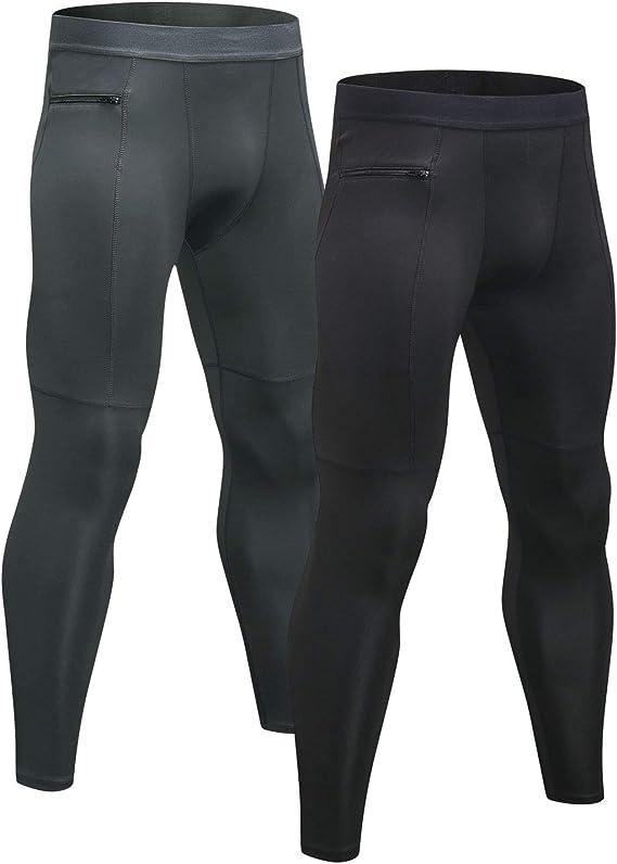 Niksa 2 Piezas Mallas Hombre Running Leggings Deporte Pantalones ...