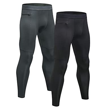f106590fd7f Niksa 2 Pack Mens Compression Running Leggings Gym Workout Tights Base  Layer Pants  Amazon.co.uk  Clothing