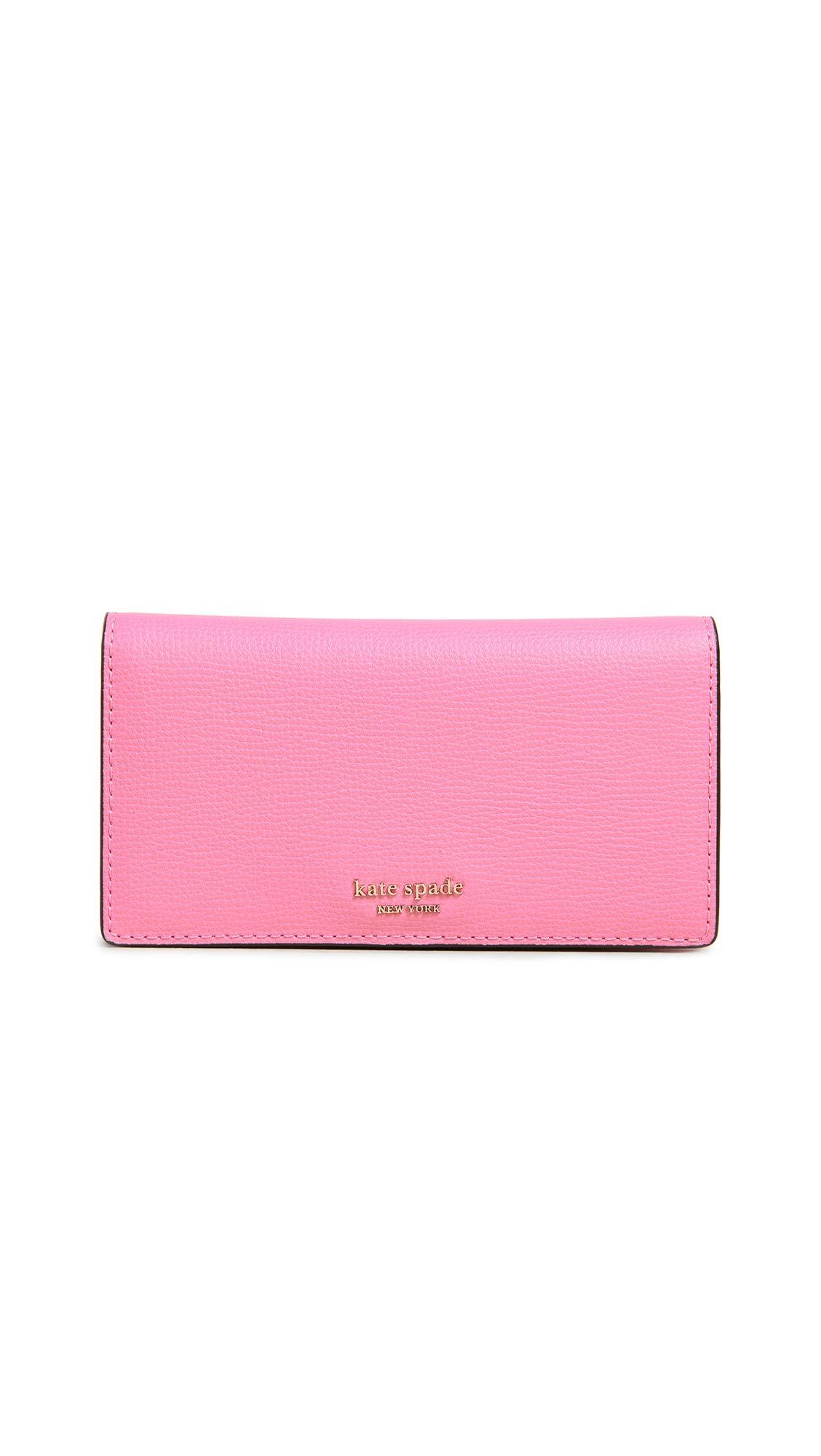 Kate Spade New York Women's Sylvia Medium Bifold With Card Holder, Hibiscus Tea, Pink, One Size