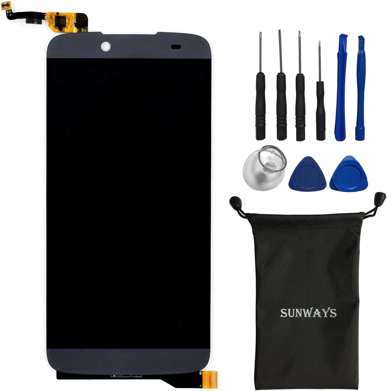 sunways Replacement Parts for BLU Dash X Plus/D950 Display Touch Digitizer Glass Screen Assembly(Black)