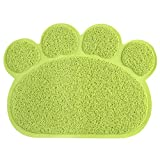 Guerbrilla Cat Litter Trapping Mats. for Cat Litter Boxes(11.8 15.8 inch) (Green)