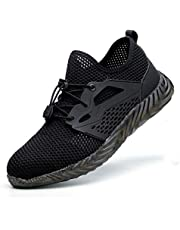 Leorealko Men Indestructible Shoes Ryder Steel Toe Safety Boot Military Workers Sneakers