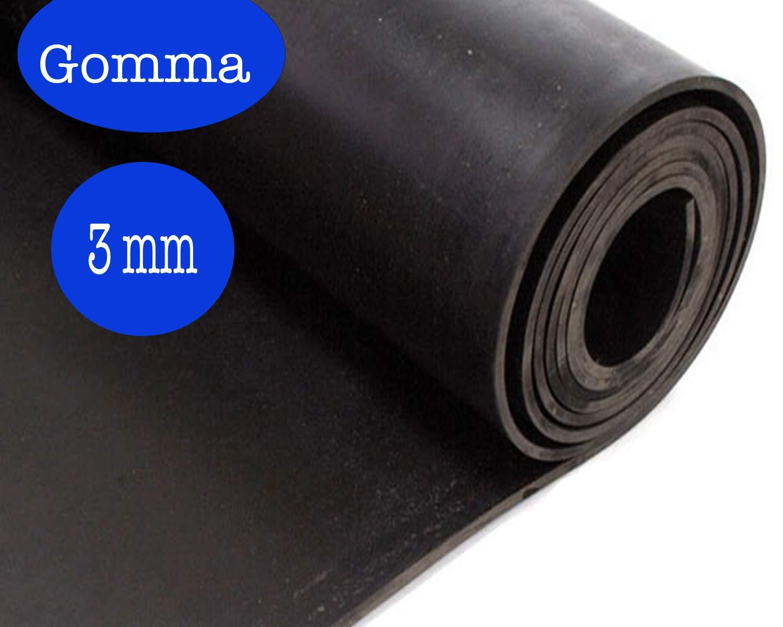 LASTRA GOMMA LISCIA SPESSORE 3 MM ALTEZZA 120 CM (1, 2 X 8 M) Guidetti Service