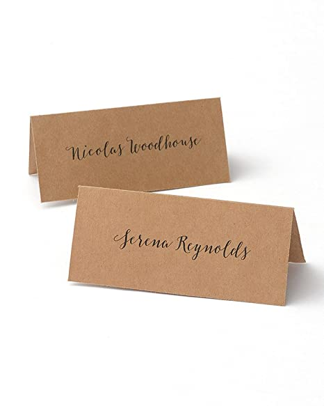 graphic regarding Printable Place Cards identified as Kraft Printable Area Playing cards