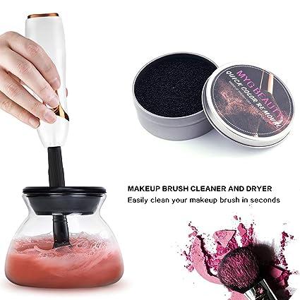 Limpiador y secador de brochas de maquillaje automático MYG. Limpia y seca todos