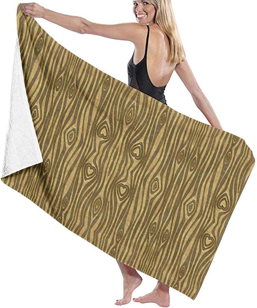 Dora Will Golden Heart Grano de Madera Toalla de Playa Silla Gruesa Suave Secado rápido Toallas absorbentes Manta: Amazon.es: Hogar