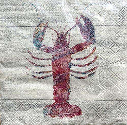 Cypress Home Lobster Cocktail Beverage Paper Napkins, 40 ct