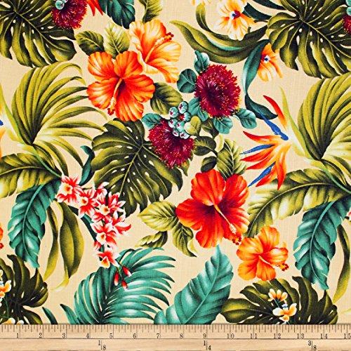 Trans-Pacific Textiles Hawaiian Rainforest Barkcloth Beige Fabric by The Yard