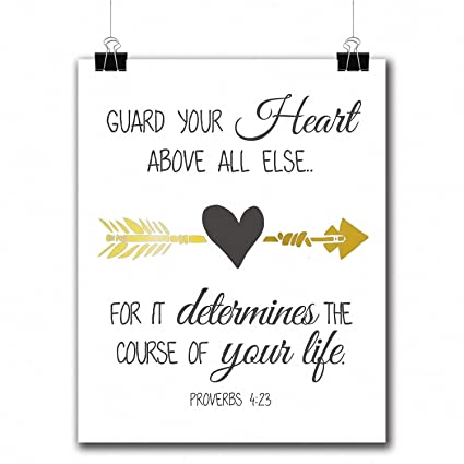 ad0421265ce Amazon.com: VILIGHT Bible Verses Gold Foil Wall Art Decor Quotes ...
