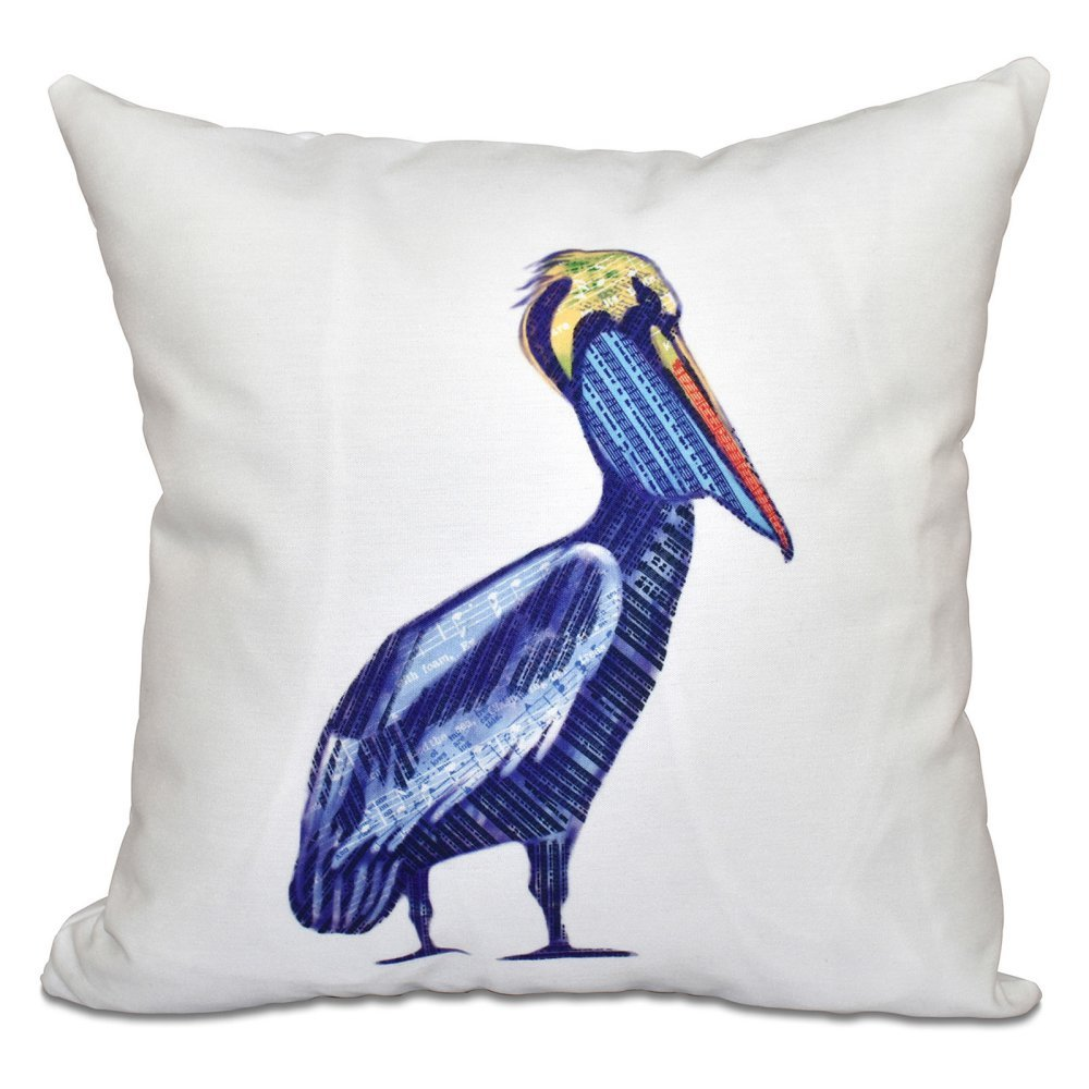 E by design O5PAN463WH1-20 Printed Outdoor Pillow