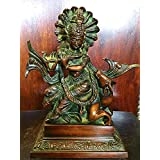 Hindu Idol Lord Krishna Statue for Temple Decor Brass Sculpture From India
