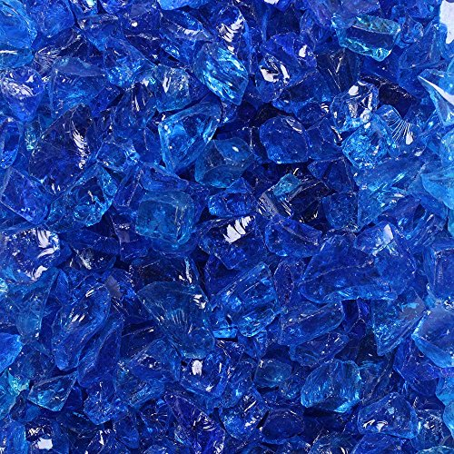 Celestial Fire Glass Crushed Fire Glass - Tropical Blue (1/2