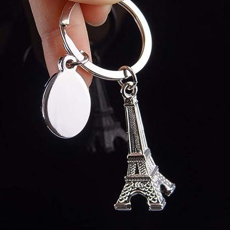 Amazon.com : 1 Pc Eiffel Tower Keyrings Pendants Men Wrist ...