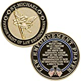St. Michael Patron Saint of Law Enforcement Challenge Coin with Hero