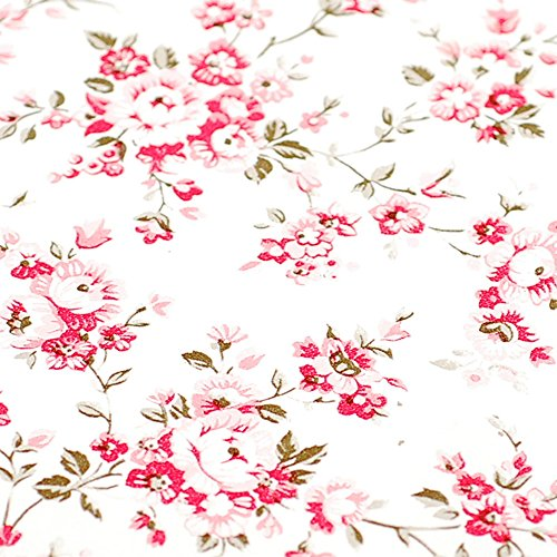 Self Adhesive Vinyl Decorative Floral Contact Paper Drawer Shelf Liner Removable Peel and Stick Wallpaper for Kitchen Cabinets Dresser Arts and Crafts Decor 17.7x78.7 Inches ()