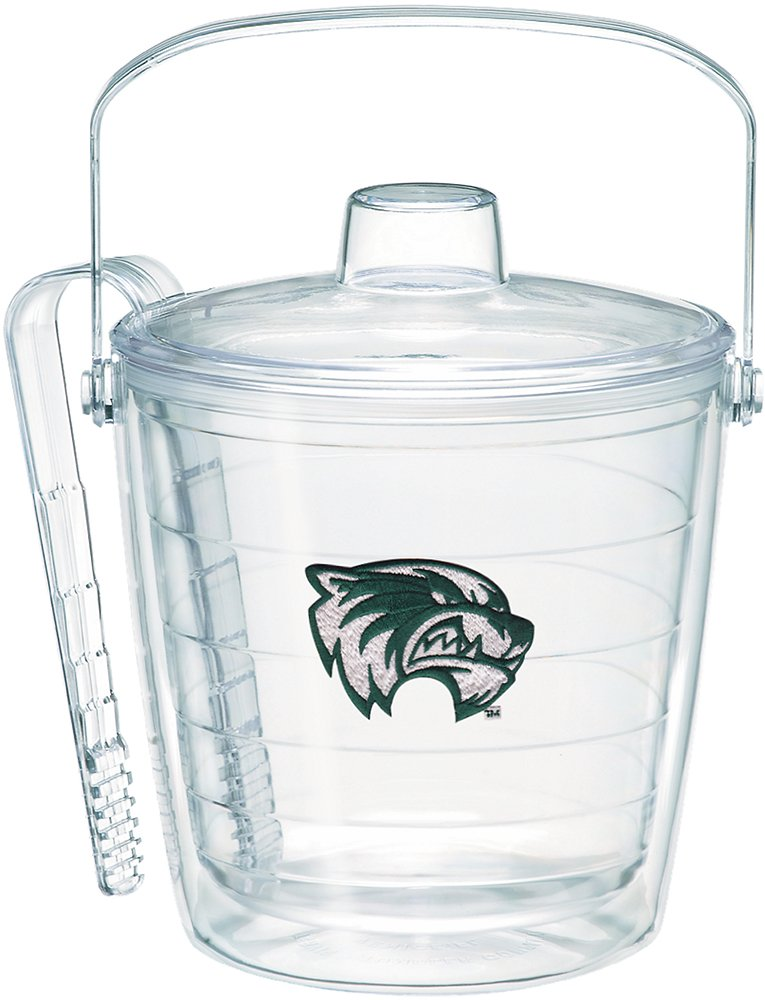 Tervis 1255922 Utah Valley Wolverines Primary Logo Insulated Ice Bucket and Tongs with Emblem Lid, 87 oz, Clear