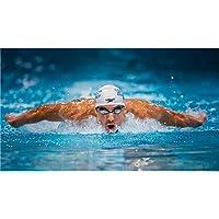 Michael Phelps Poster On Silk <107cm x 60cm