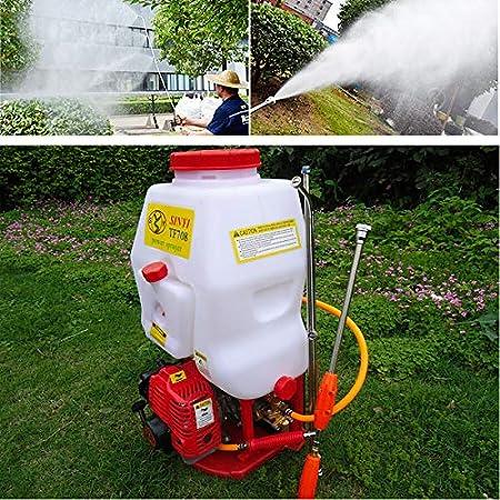 Pulverizador mochila 20L Pulverizador a presión Fertilizante Pulverizador Jardín pulverizador Rociador de maleza agrícola: Amazon.es: Jardín