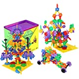 CoolFlakes Creative and Educational Interlocking Flakes With Included Building Base and Gears (Deluxe Box – 568 pieces)