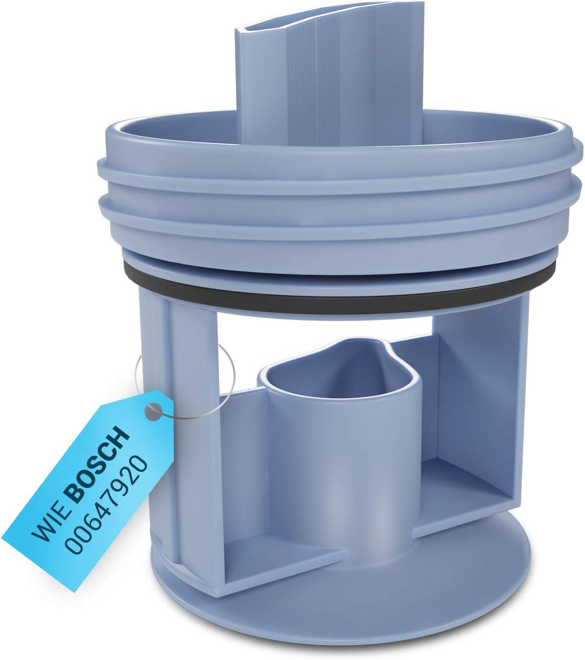 Filtro antipelusas de repuesto para Bosch 00647920 accesorio de lavadora, accesorio para secadora Bomba de desagüe lavadora