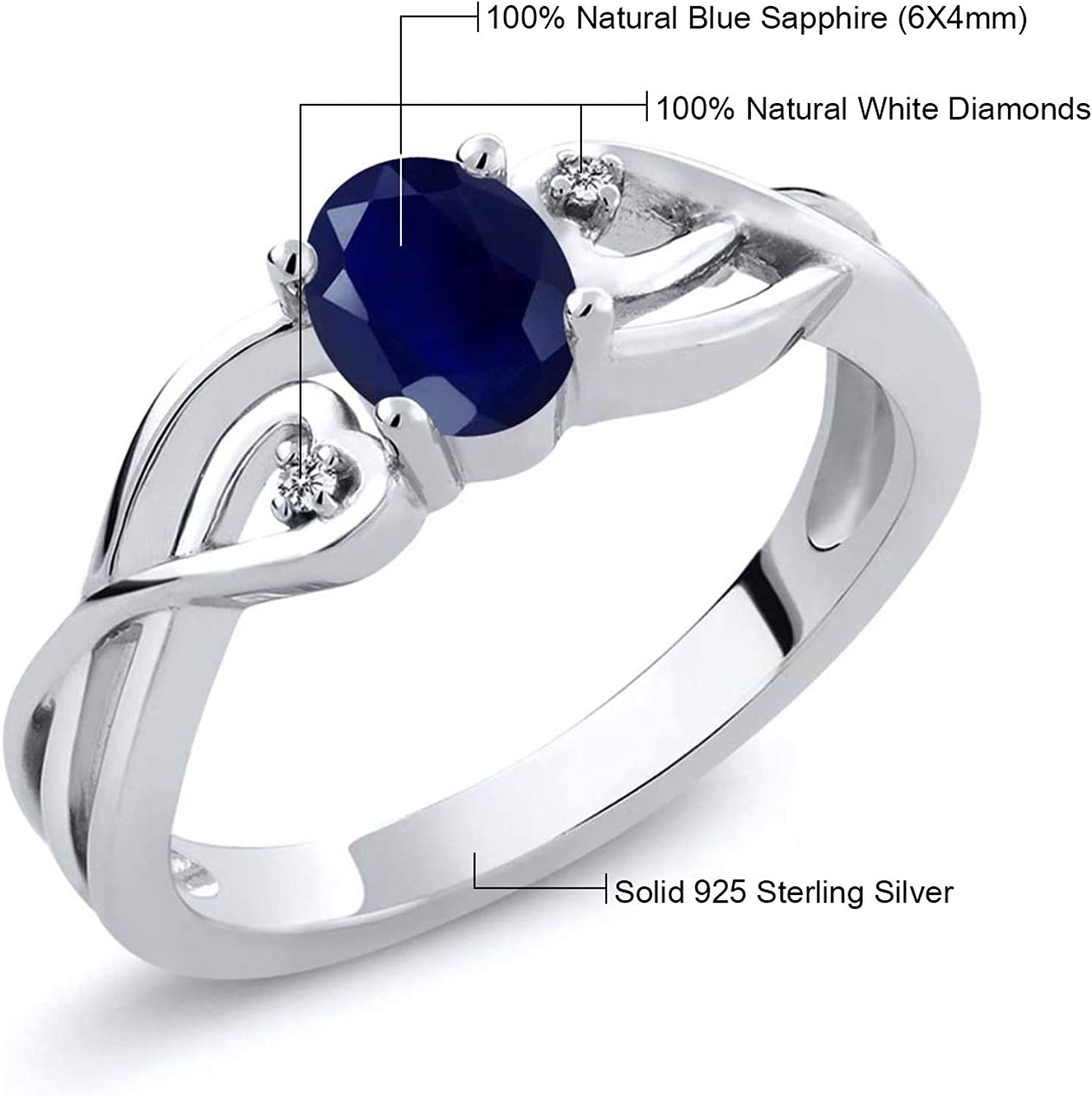 Blue Sapphire 6.25 Carat Anniversary Gift Handmade Ring For Man And Women 925 Sterling Silver