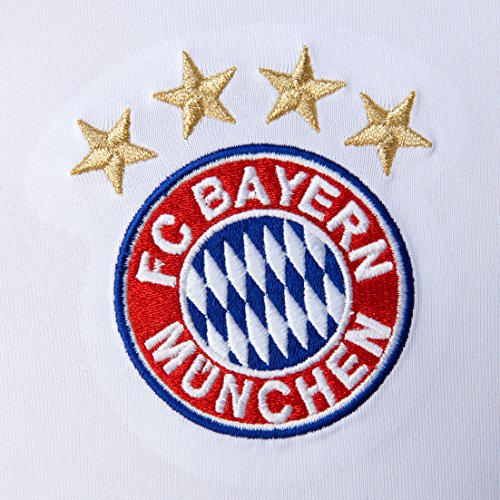 Homme Fc Munich Bayern Adidas White Manches Courtes Maillot Replica Extérieur 8qpqcFT