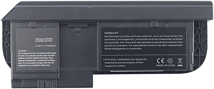 Bay Valley PartsLENOVO 6-Cells 11.1V 5200mAh Hi-Quality Replacement Laptop Battery for THINKPAD X220T,X230T,X220 Tablet,X220I Tablet,X230 Tablet,X230I Tablet Series