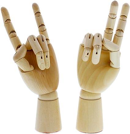 "US Art Supply 7/"" Right Hand Manikin Wooden Art Mannequin Figure"