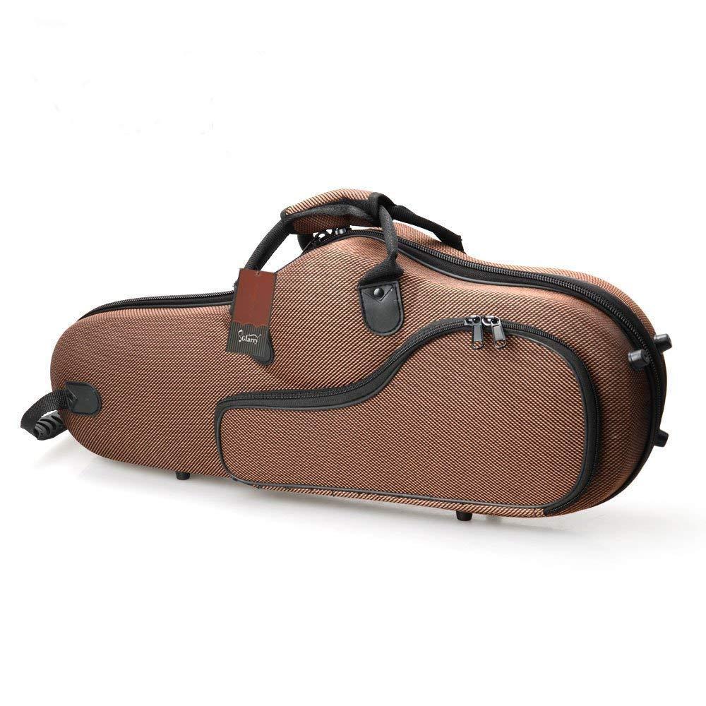 Glarry High Grade Durable Cloth Alto Saxophone Case Box Gig Case (Coffee)