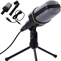 SEASKY Micrófono con Soporte,Micrófono Profesional,Podcasts,Ideal para Videoconferencias,Videoblogs y más,Podcasts