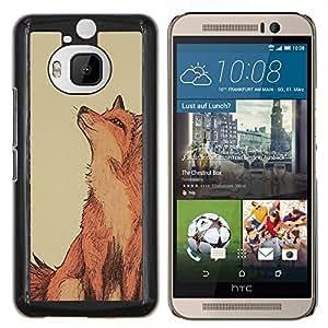 LECELL--Funda protectora / Cubierta / Piel For HTC One M9Plus M9+ M9 Plus -- Lindo Dibujo Red Inteligente Naturaleza --