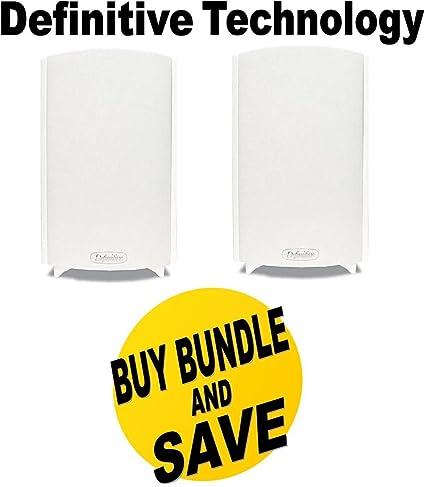 Definitive Technology ProMonitor 800 Bookshelf Speakers Pair White