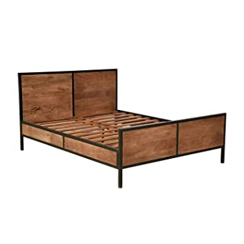 Homescapes Industrial Style King Size Bed Frame 100 Solid