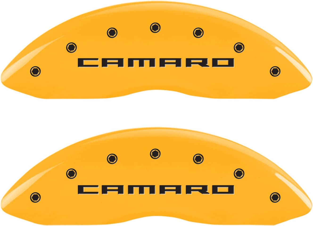 MGP Caliper Covers 14033SCA5RD 2010-2015 Chevrolet Camaro LT//LS Caliper Cover with Camaro Engraving and Red Powder Coat Finish, Set of 4
