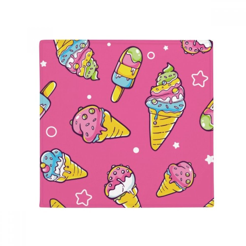 DIYthinker Star Pink Sugar Popsicle Ice Cream Anti-Slip Floor Pet Mat Square Home Kitchen Door 80Cm Gift