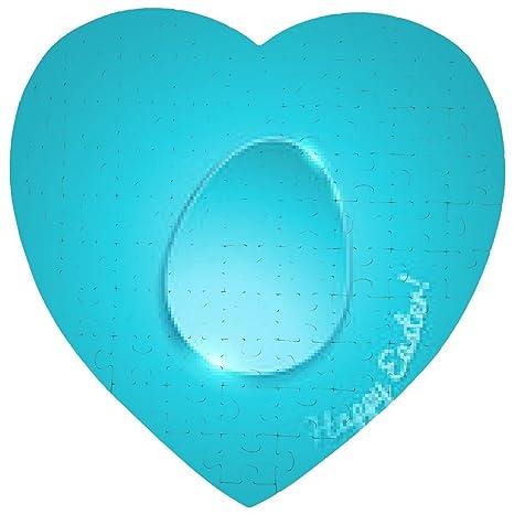 Puzzle Semplice Uovo Piatto Lucido Su Sfondo Sfumato Di Colore Blu