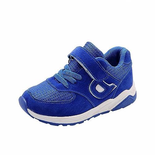 TTMall Scarpe sportive Bambini Moda Ragazze Ragazzi Sneaker Calda Sporca Sport Pattini Casuali Correnti (27, blu)
