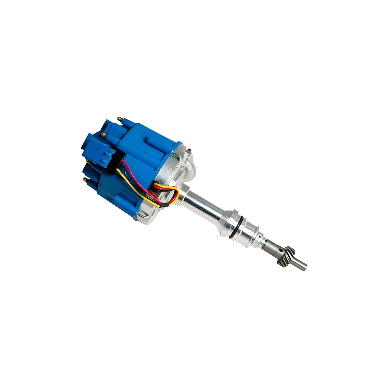 50K Volt Coil Top Street Performance JM6502BL HEI Distributor with Blue Cap