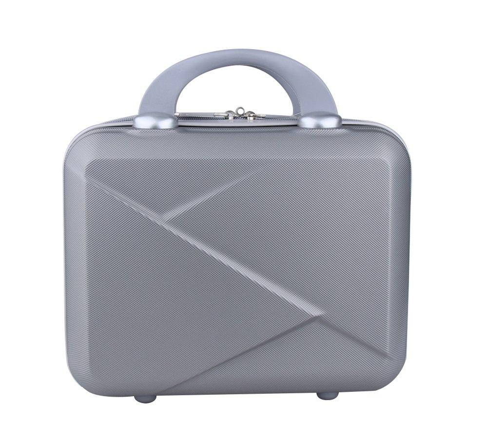 Genda 2Archer Hard Shell Cosmetic Case Mini Hardshell Travel Hand Luggage 14inch (Silver) by Genda 2Archer