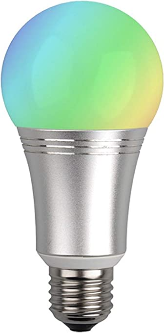 Dimmable Colors and Whites Oomi Bulb Smart RGBW LED Z-Wave Plus Light Bulb Tap-and-Touch Ready
