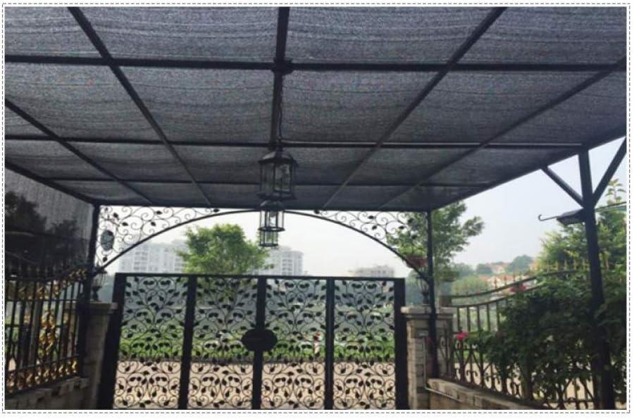YSHCA Sombra de Malla con protección Solar del 90%, Tela de Sombra Durable y Transpirable para la Planta de Flores de jardín Greenhouse Barn Kennel,Black_18x30ft/6x10m: Amazon.es: Hogar