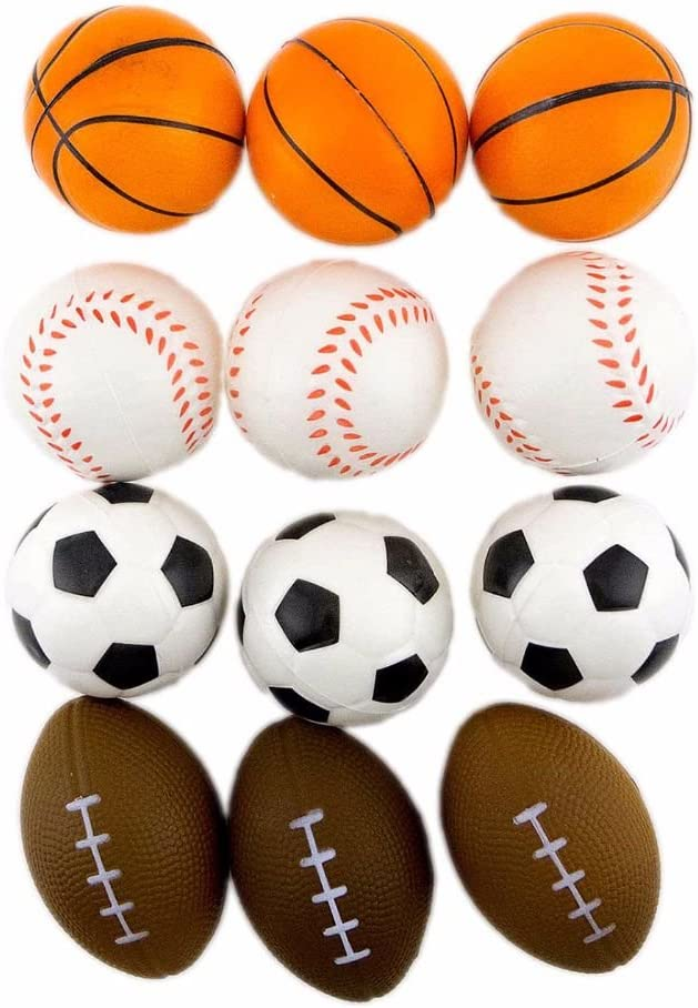 12 Pelotas de Esponja de balón de Baloncesto de Espuma para ...