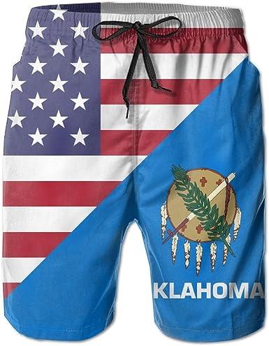 Mens Quick Dry Summer Swim Trunks Freemason American Flag