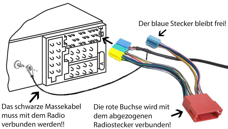 RNS D Kit mains libres Bluetooth Audio pour 8 broches Mini ISO Audi: Chorus 2 MCD Concert 2 VW: Gamma 5 Navigation Plus 1//2 Symphony 1//2 MFD 1 Premium 5