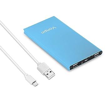 Vonpri Power Bank 10000mah Cargador Móvil Portátil Batería Externa para iPhone y Android Dispositivos (Azul escarchado): Amazon.es: Electrónica
