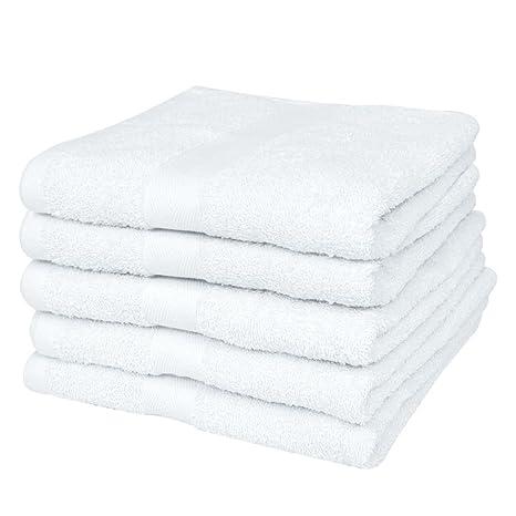 vidaXL 25 Toallas Blancas de baño algodón 100x150cm 400gsm para baño SPA Hotel