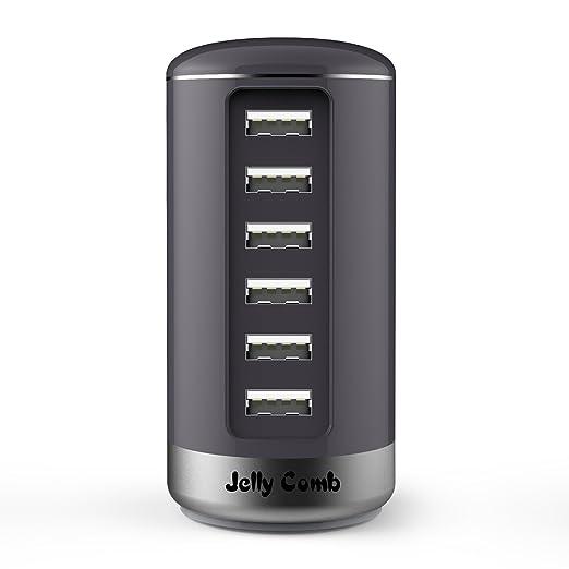 17 opinioni per Jelly Comb Caricabatterie USB da muro viaggio 30W / 6A con 6 porte USB,