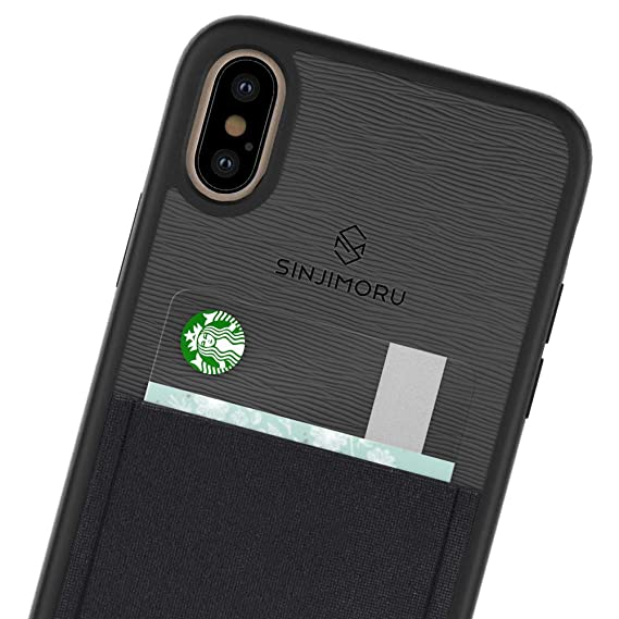 low priced 11989 9d3e6 Sinjimoru iPhone Xs Max case with Card Holder, Slim Card Wallet case. Sinji  Pouch Case for iPhone Xs Max (2018), Black